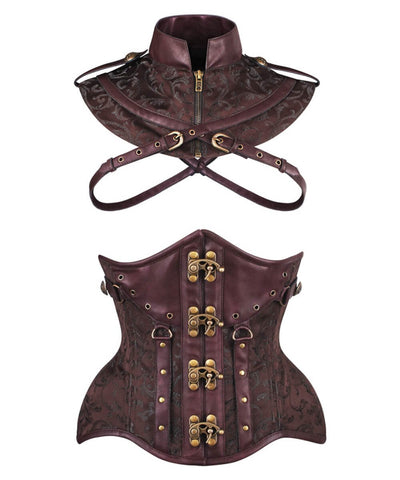 Lerola Steampunk Curvy Waist Training Corset with Bolero