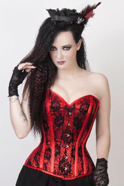 Celestino Lace Overlay Corset with Bolero Jacket