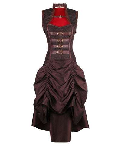 Ciril Overbust Steampunk Corset Dress