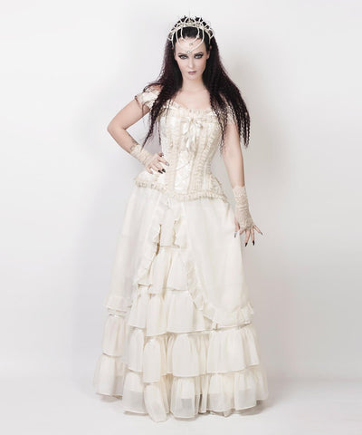 Agam Ivory Long Victorian Inspired Custom Made Skirt