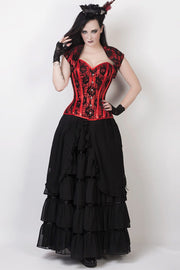 Caelius Black Long Victorian Inspired Skirt