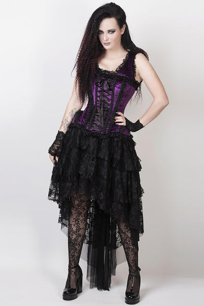 Feofil Custom Made Burlesque Skirt in Black Lace