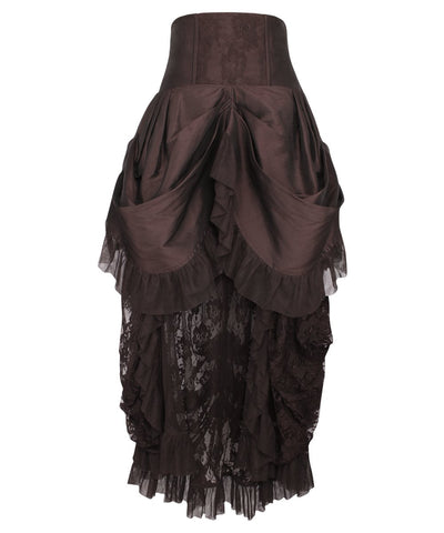 Filberta Brown Victorian Skirt