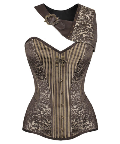 Roderic Gold Brocade Steampunk Corset with Bolero