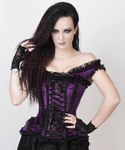 Ainoa Purple Victorian Inspired Custom Made Corset
