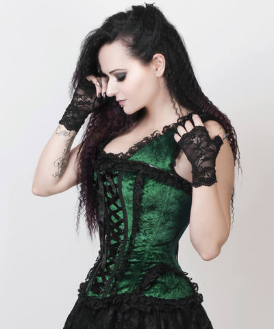 Ceren Green Victorian Inspired Custom Made Corset