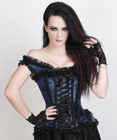 Fulton Turquoise Victorian Inspired Corset