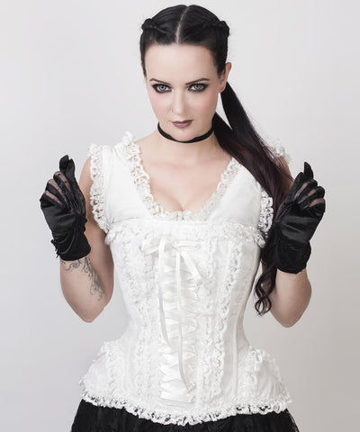 Aeson Victorian Inspired White Custom Made Corset