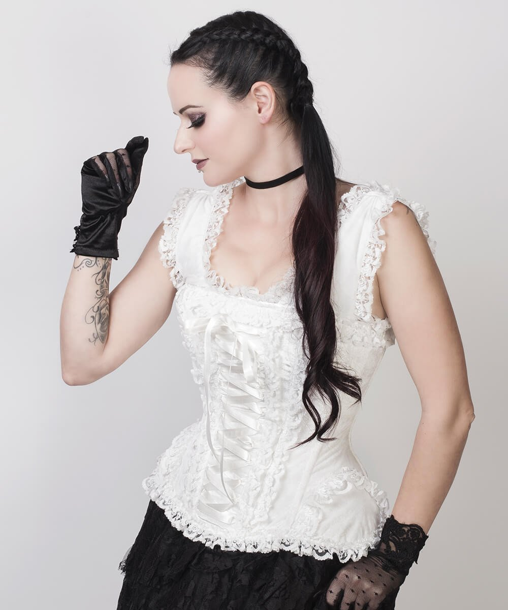 Aeson Victorian Inspired White Corset