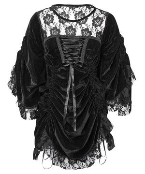 Roselle Black Gothic Dual Top & Dress