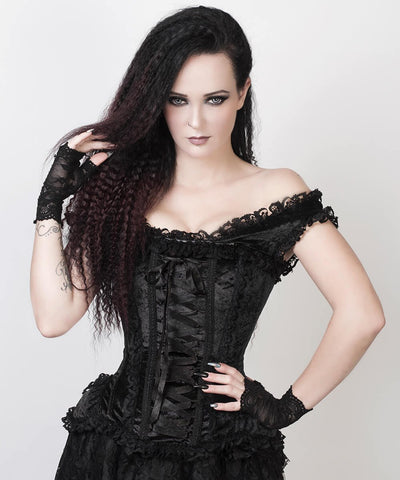 Rogier Black Victorian Inspired Custom Made Corset