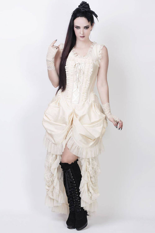 Aindrea Ivory Victorian Inspired Dress