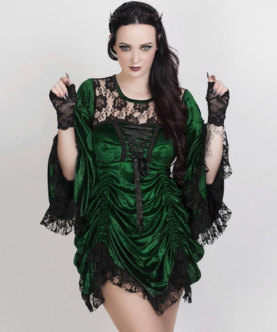Ahoth Green Gothic Dual Top & Dress