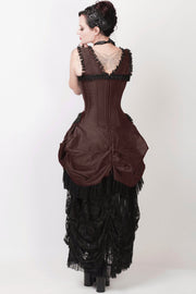 Farrell Brown Victorian Inspired Dress