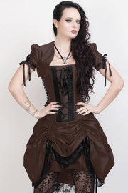 Roswell Victorian Inspired Brown Corset Dress with Bolero