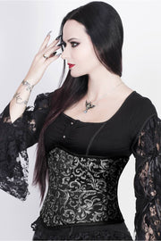 Akantha Brocade Corset with Skull Busk Opening