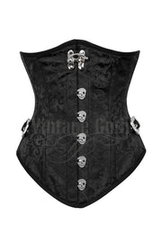 Ronen Custom Made Black Corset with Skull Busk Opening