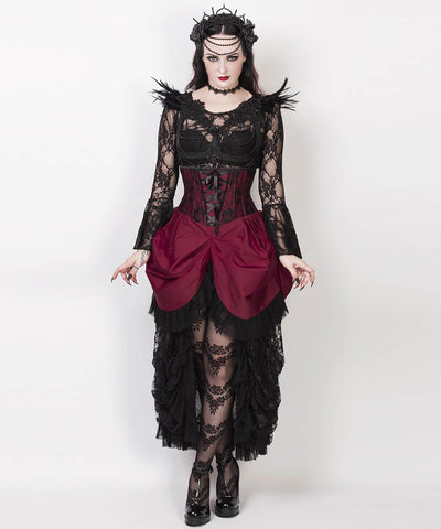 Robina Magenta Burlesque Underbust Corset Dress