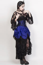 Agnar Custom Made Blue Burlesque Underbust Corset Dress