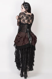 Caligula Brown Burlesque Underbust Corset Dress