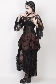 Caligula Custom Made Brown Burlesque Underbust Corset Dress