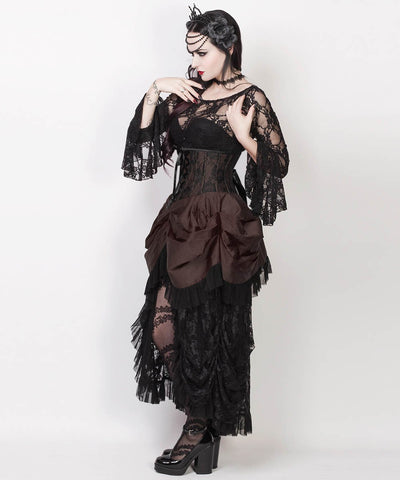 Caligula Brown Burlesque Underbus Custom Made Corset Dress