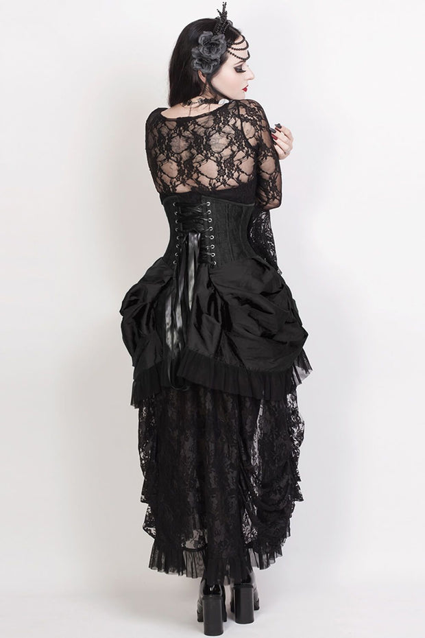 Filippa Black Burlesque Underbust Corset Dress