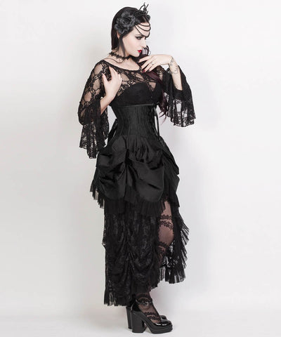 Filippa Black Burlesque Underbus Custom Made Corset Dress
