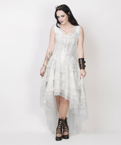 Rayyan Victorian Inspired White Corset Dress