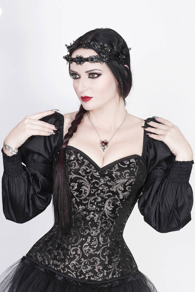 Florry Brocade Corset with Attached Sleeve