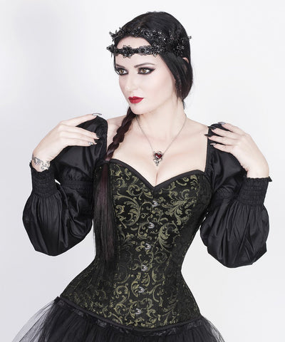 Lerato Steampunk Gold Corset with Attached Sleeve