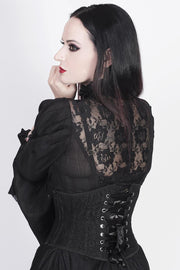 Franco Custom Made Underbust Black Corset with Lace Overlay