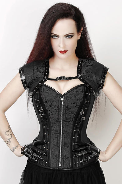 Fidelia Custom Made Black Gothic Overbust Corset with Bolero