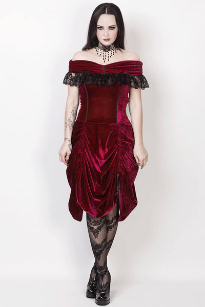 Agmundr Burlesque Off Shoulder Dress