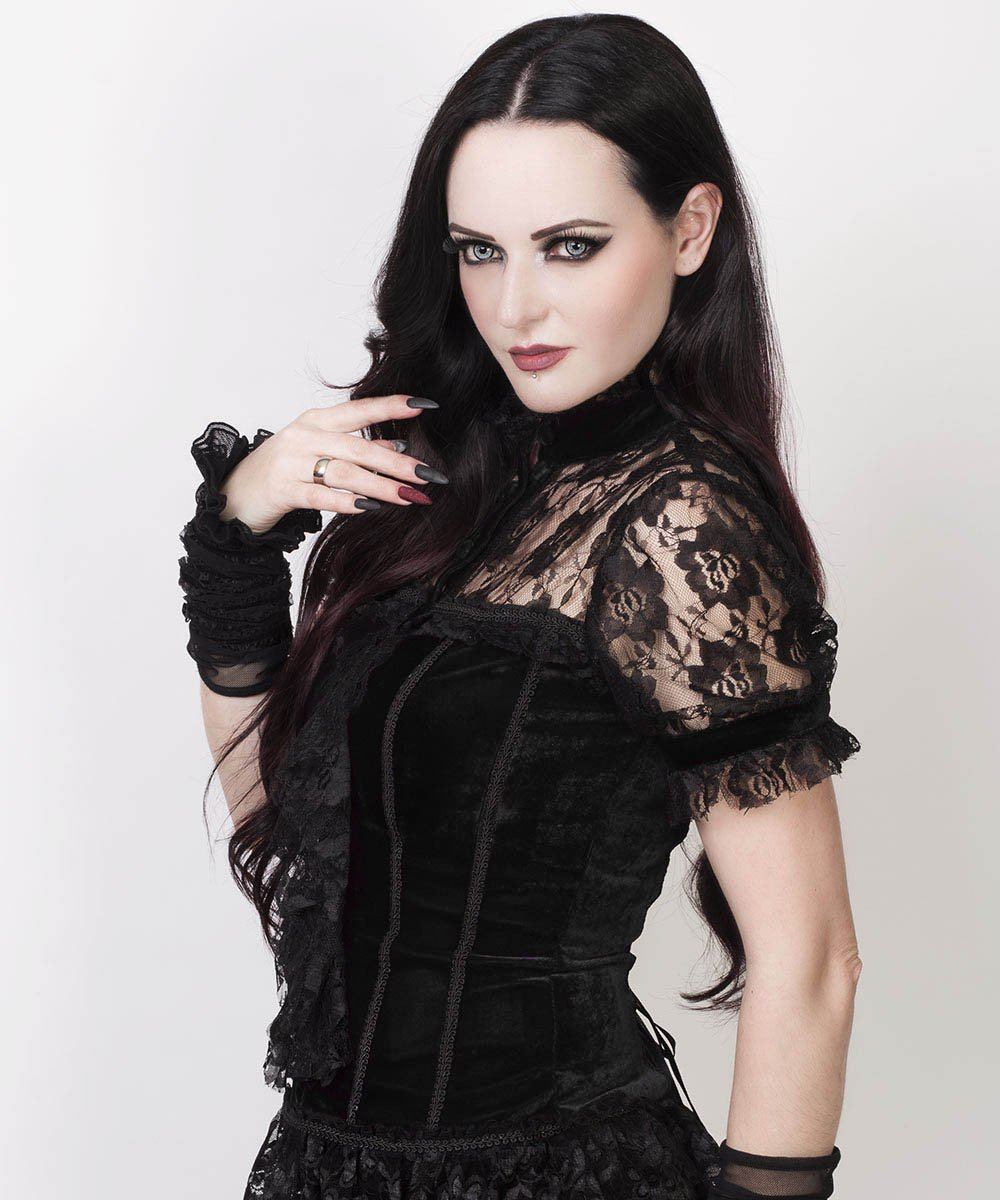 Agrippa Gothic Top in Black Velvet