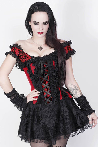 Ruchel Steel Boned Halter Burlesque Corset Dress