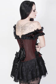 Caetlin Custom Made Brown Halter Burlesque Corset Dress