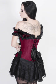 Ferdie Custom Made Magenta Halter Burlesque Corset Dress
