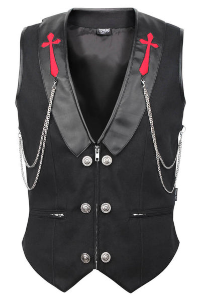 Galine Custom Made Cotton Gothic Men's Waist Coat