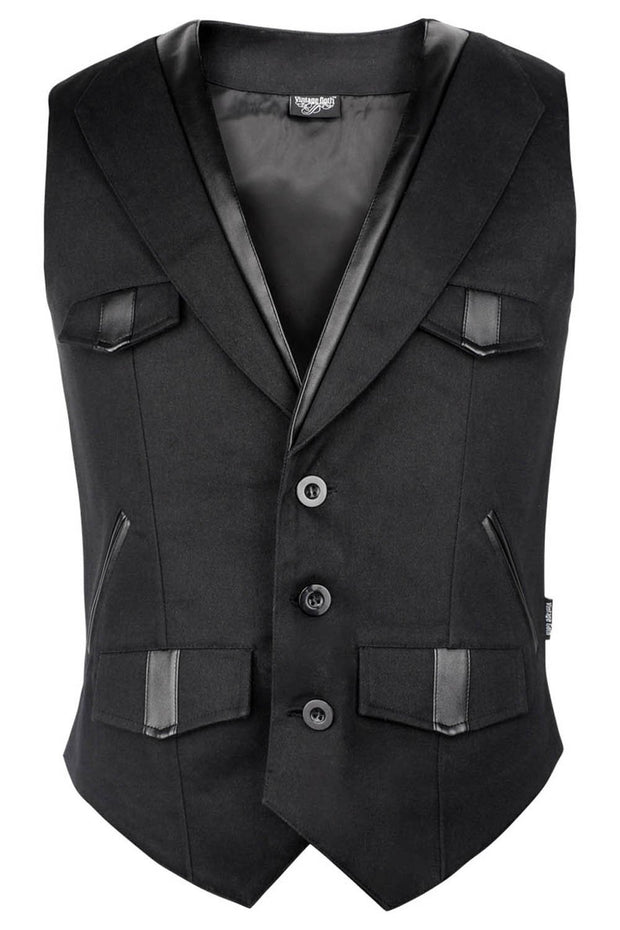 Breezy Custom Made Cotton Gothic Men's Waist Coat