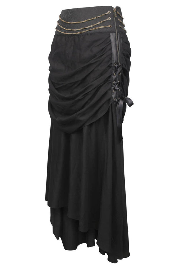Fidal Steampunk Skirt with Hanging Chains