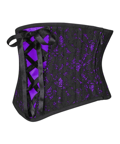 Galit Underbust Purple Corset with Lace Overlay