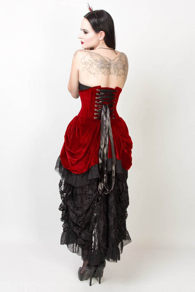 Briallan Custom Made Burlesque Underbust Corset Dress
