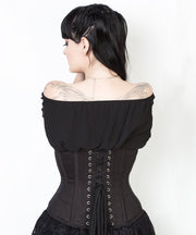 Waist Shaper Cotton Corset in Black