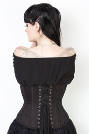 Black Custom Made Waist Shaper Corset in 100% Cotton