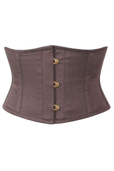 Brown Corset Waist Shaper in 100% Cotton