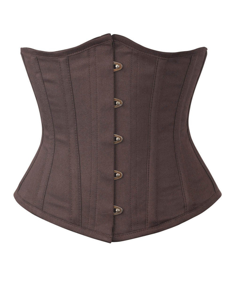 Brown Waist Shaper Corset in 100% Cotton