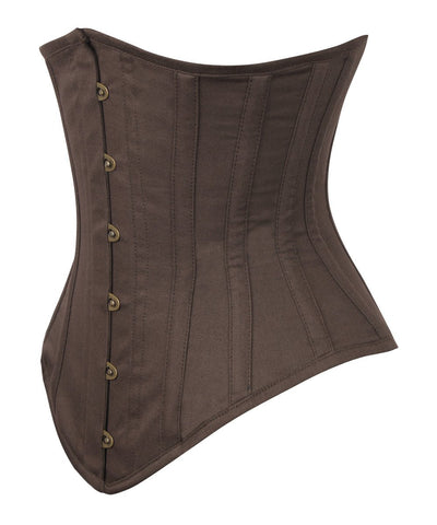 Brown Waist Trainer Corset in 100% Cotton