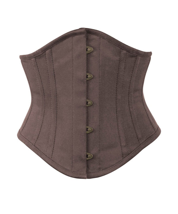 Brown Waist Cincher Corset in 100% Cotton