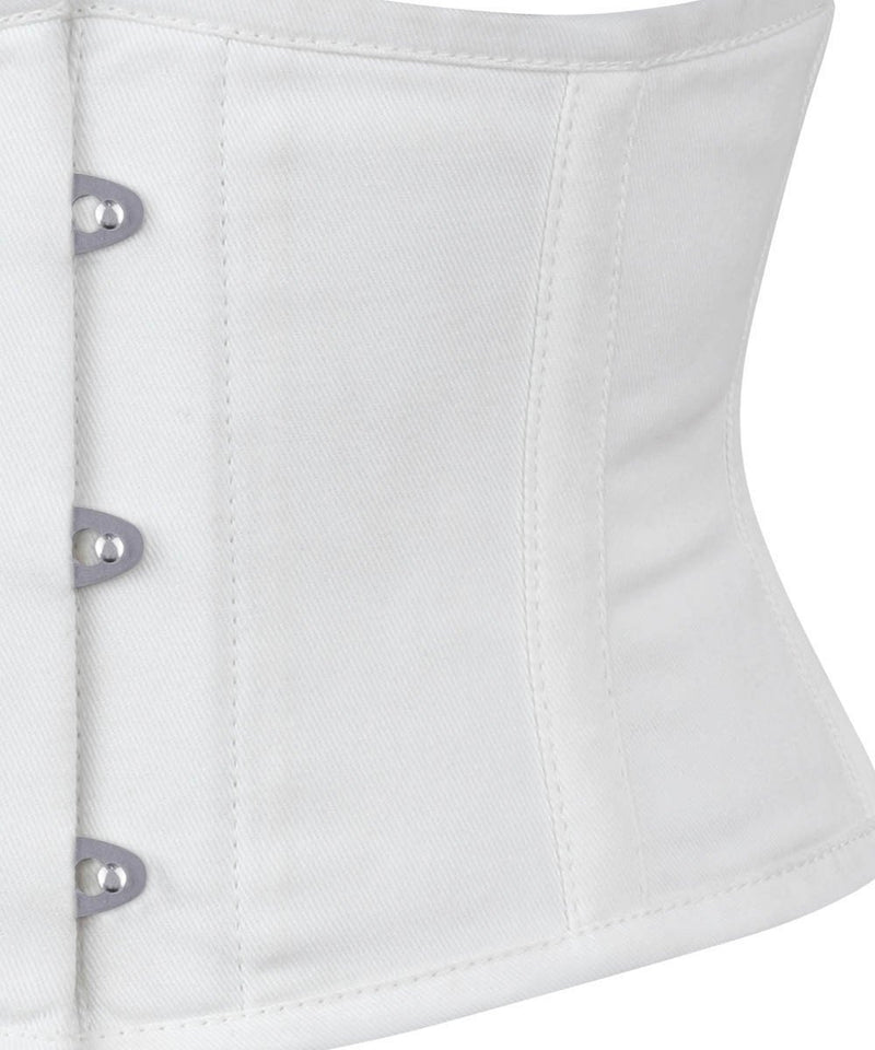 Waist Trainer White Corset in 100% Cotton